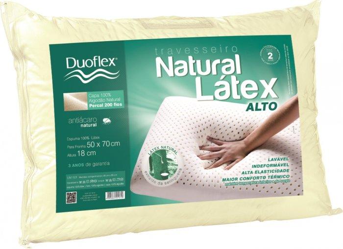 Travesseiro Duoflex Natural Látex Alto